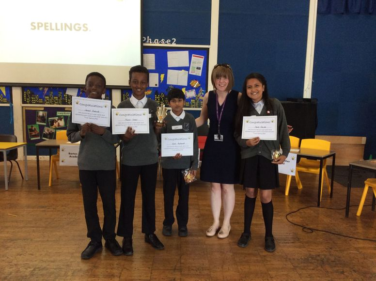Spelling Bee Kingfisher winners