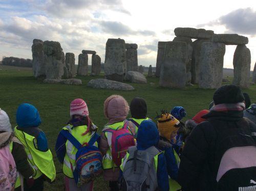 Years 3 and 4 at Stonehenge