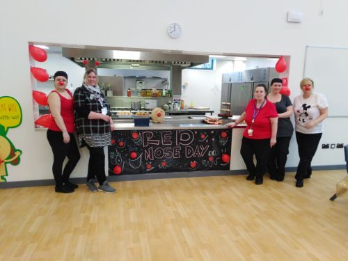 Kitchen and lunch staff Red Nose Day
