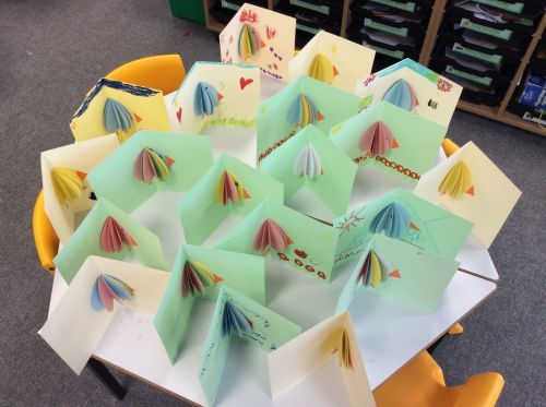 Reception class pop up easter cards