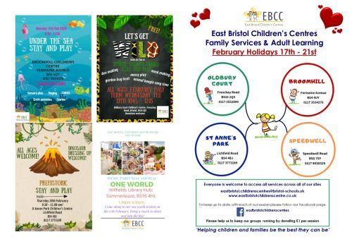 EBCC February School Hols Time Table 1