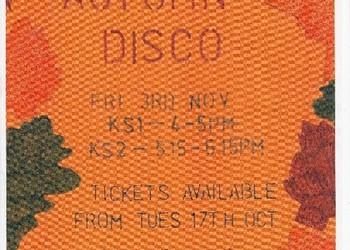 Autumn Disco - Friday 3rd November