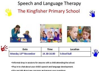 Speech & Language Drop-in Session 13th Nov