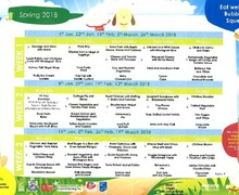 Spring 2018 menu