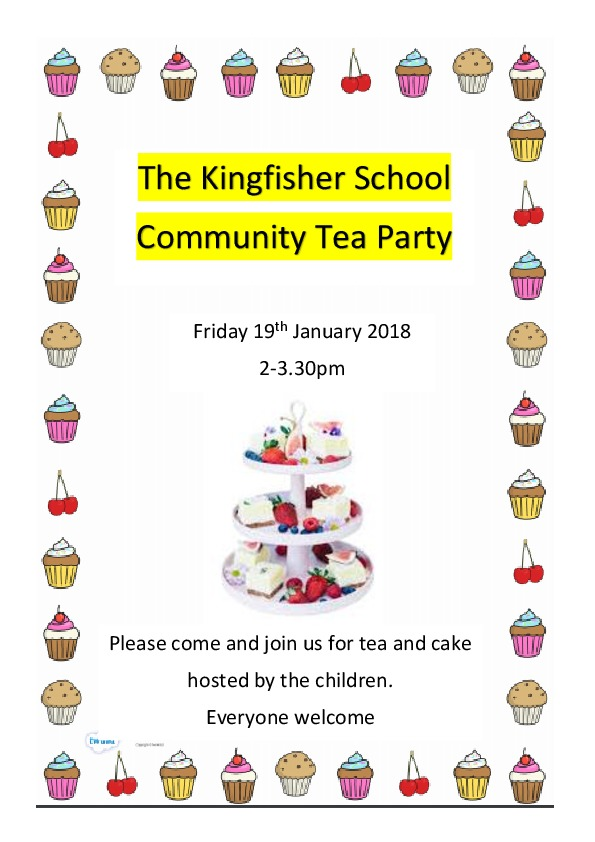 Community tea party poster