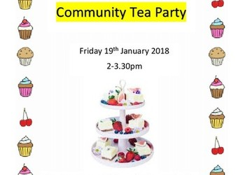 Community Tea Party - 19th January 2018